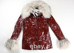 Dolce Et Gabbana Vintage Iconic 1990s Verni Leather Fur Jacket Coat Eu 42