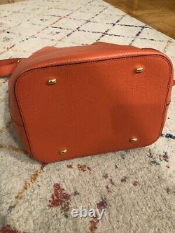 Euc Vintage Celine Bucket Bag Corail Rouge Avec Du Matérielgold
