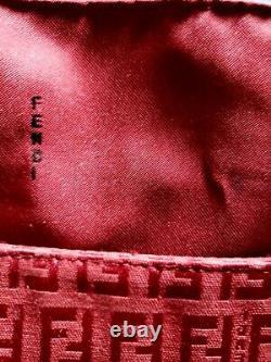Fendi Authentique Baguette Vintage Rouge