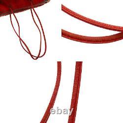 Fendi Logos Épaule Sac À Main Rouge Fourrure Italie Vintage Authentique # Hh550 Y