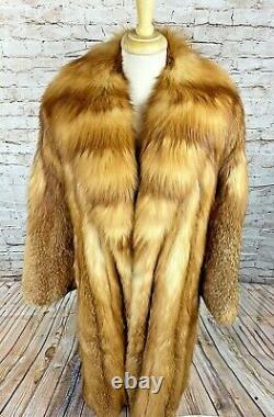 Gorgee Red Fox Fur Coat Jack Fenster Beverly Hills Luxury Long Beautiful M/l