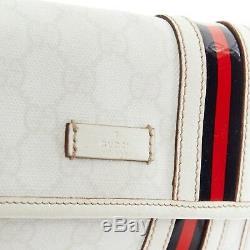 Gucci Gg Monogramme Toile Blanche Rabat Web Noir Rouge Sac Ceinture De Sac Banane