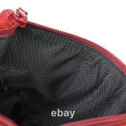 Gucci Gg Pattern Hand Bag 07198 2123 Sac À Main Red Canvas Leather Vintage Ak45664