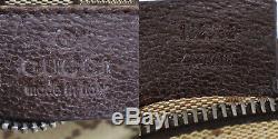 Gucci Original Gg Canvas Web Stripe Fanny Pack De Brown Vert Rouge Auth # Gg68 Y