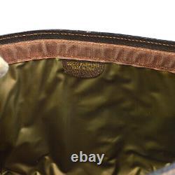 Gucci Shelly Line Clutch Hand Bag Poche Sac Sac Beige Brun Pvc Vintage K08731