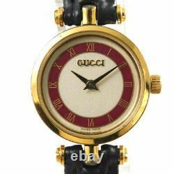 Gucci Shelly Line Montre Vintage En Or Rouge Pour Femmes Quartz Suisse