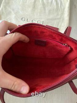 Gucci Vintage Burgundy Calfskin Leather Shoulder Sac Sac À Main