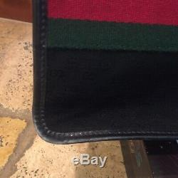 Gucci Vintage Grand Noir Sherry Web Guccissima Gg Toile Sac Fourre-tout