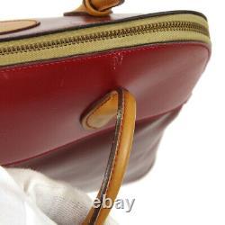 Hermes Bolide 35 Hand Bag Ma 4 M Red Beige Box Calf 1983's Vintage Ak31310k