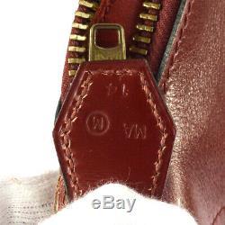 Hermes Bolide 35 Sac À Main Bordeaux Boîte Veau M Vintage Authentique Bt14367k