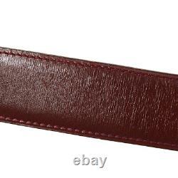 Hermes Boucle Boucle Bordeaux Box Colf France Vintage L # 85 Authentique A43814g
