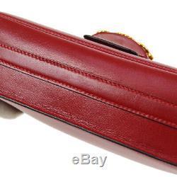 Hermes Sac À Bandoulière P Sologne M X Bourse Rouge Boîte Veau Vintage France Jt09312