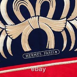Hermes Tiger Print Scarf Red Gold Black Silk 90 CM Tyger Vintage