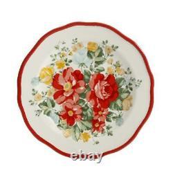La Pioneer Woman Vintage Floral 12 Pc Ensemble De Vaisselle Service Pour 4 Plaques Nouveau