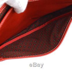 Loewe Logos Messenger Sac À Bandoulière Sac À Main En Cuir Rouge Vintage Espagne Ak39077