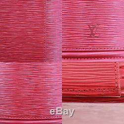 Louis Vuitton Cannes Sac À Main Rouge Epi Cuir M48037 Vintage Authentique # Gg898 O
