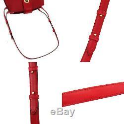 Louis Vuitton Cluny Sac À Bandoulière En Cuir Rouge Epi M52257 Vintage Auth # Kk271 Y