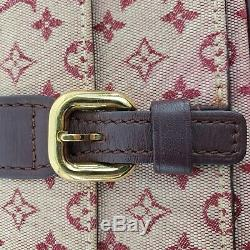 Louis Vuitton Rouge Bourgogne Tissu Monogram Mini Lin Sac Juliette 08020 Crossbody