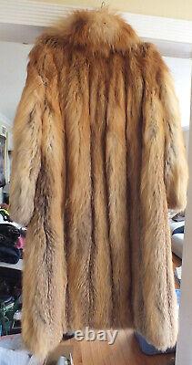 Magnifique Manteau Femme Renard Rouge Vintage Sz. L