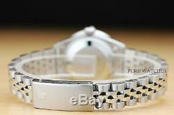 Mesdames Rolex Datejust 1.10 Ct Diamond Bezel & Cosses 18k Or Blanc Montre En Acier
