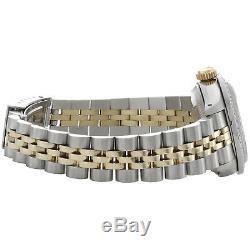 Mesdames Rolex Datejust 6917 Jubilé En Or 18 Carats / Acier Diamond Watch Cadran Rouge 1 Ct