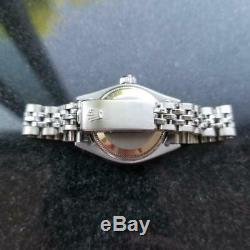 Mesdames Rolex Datejust Cadran Argenté 18k En Acier Inoxydable Montre Ms167