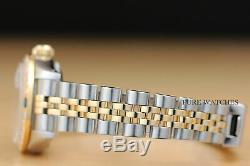 Mesdames Rolex Datejust De Diamants En Or Jaune Saphir Et Acier Cadran Bleu