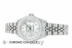 Mesdames Rolex Datejust En Or Blanc 18 Carats Et Acier Inoxydable Argent Diamant Cadran