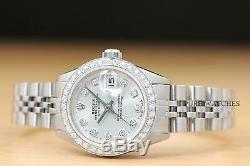 Mesdames Rolex Datejust En Or Blanc 18 Carats Et Acier Inoxydable Argent Diamond Watch