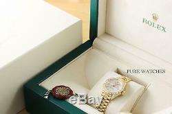 Mesdames Rolex Datejust Président Or Jaune 18 Carats Diamond Bezel & Cosses Montre