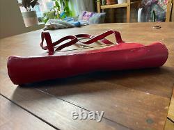 Miu Miu Vintage En Cuir Rouge Embrayage Sac De Purse