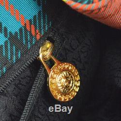Motif Baroque Versace Gianni Sac D'épaule Fourre-tout Nylon Rouge Vintage Ak41247