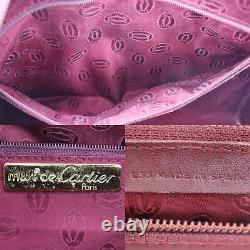 Must De Cartier Boston Sac À Main En Cuir Bordeaux Vintage Espagne Authentique # Nn336