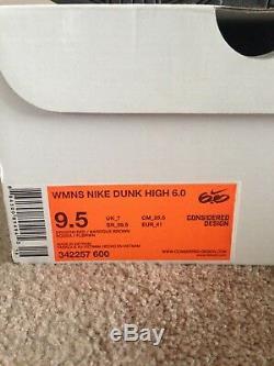 Nike Dunk 6.0 Dragon Rouge Des Femmes De 9,5 Mens Sz 8 Rare Vintage 2010 Sb Denim Sb
