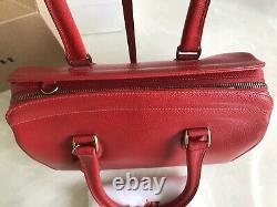 Nouveau Coach Vintage Madison Sutton Red Satchel Crossbody Bag Italie 4410 Rare