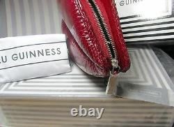 Ouf! Lulu Guinness Vintage Red Snakeskin Lèvres Embrayage Sac À Main Rrp £295