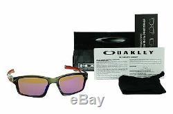 Polarized Nouveau Véritable Oakley Chainlink Gris Oo Rouge Iridium Lunettes De Soleil Oo 9247-10