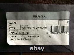 Prada Leather Coat Trench Coat Jacket Nappa Bicolore £2750 Tout Nouveau Millésime
