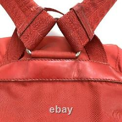 Prada Vintage Petit Sac À Dos Sac À Dos Red Nylon 2 Buckles Authentic