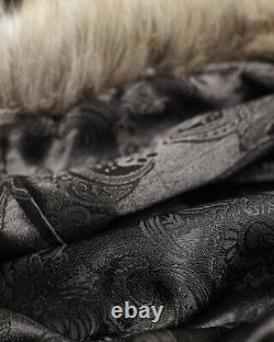 Punk Rave Femmes Manteau Manteau Rouge Fux Fur Gothique Steampunk Vtg Regency