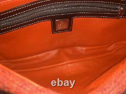 Rare Authentic Red Mamma Baguette Fendi Cashmere Sac Vintage En Cuir