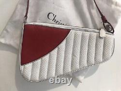 Rare Christian Dior Par John Galliano White Red Car Bag Vintage Superb Condition