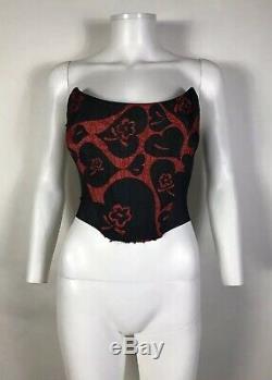Rare Floral Vtg Vivienne Westwood Red Corset Xs