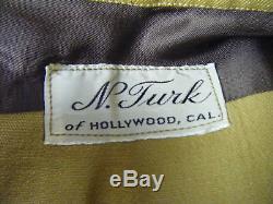 Rare Nathan Turk Vtg 40s Tôt Femmes Mustard Western Red Shirt & Pant Set-xs-s
