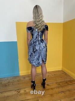 Rare Robe Dequin En Corset Vivienne Westwood 2012 Gown Rouge Étiquette Pailletée Vtg