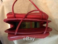 Rare Vintage 1960 Bonnie Cashin Entraîneur Mini Safari Sac Fourre-tout