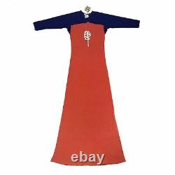 Rare Vintage Années 90 Jean Paul Gaultier Robe Maxi Rouge Et Bleu, Bnwt. Taille Royaume-uni M