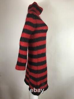 Rare Vtg Alexander Mcqueen Horn Of Plenty Red Mohair Robe S