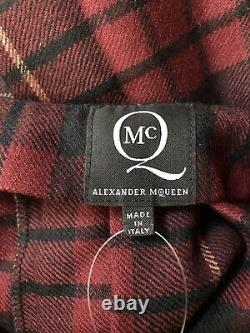 Rare Vtg Alexander Mcqueen Mcq Red Tartan Mini Jupe Xs
