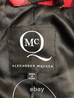 Rare Vtg Alexander Mcqueen Mcq Red Tartan Veste À Carreaux S 40